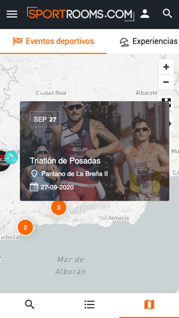 Listado Mapa Eventos Sportrooms